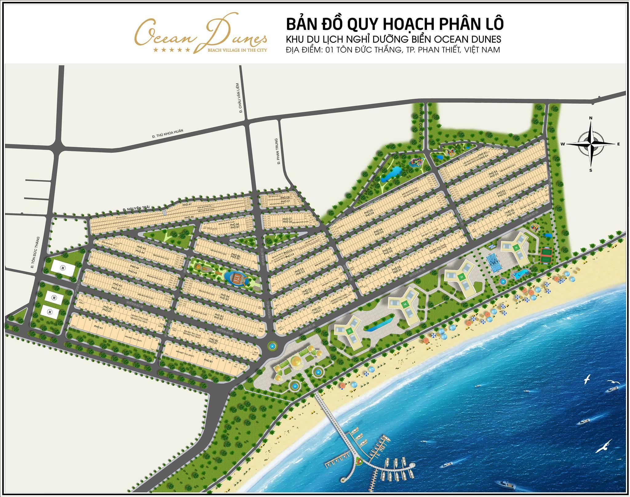 Bản đồ phân lô dự án Ocean Dunes